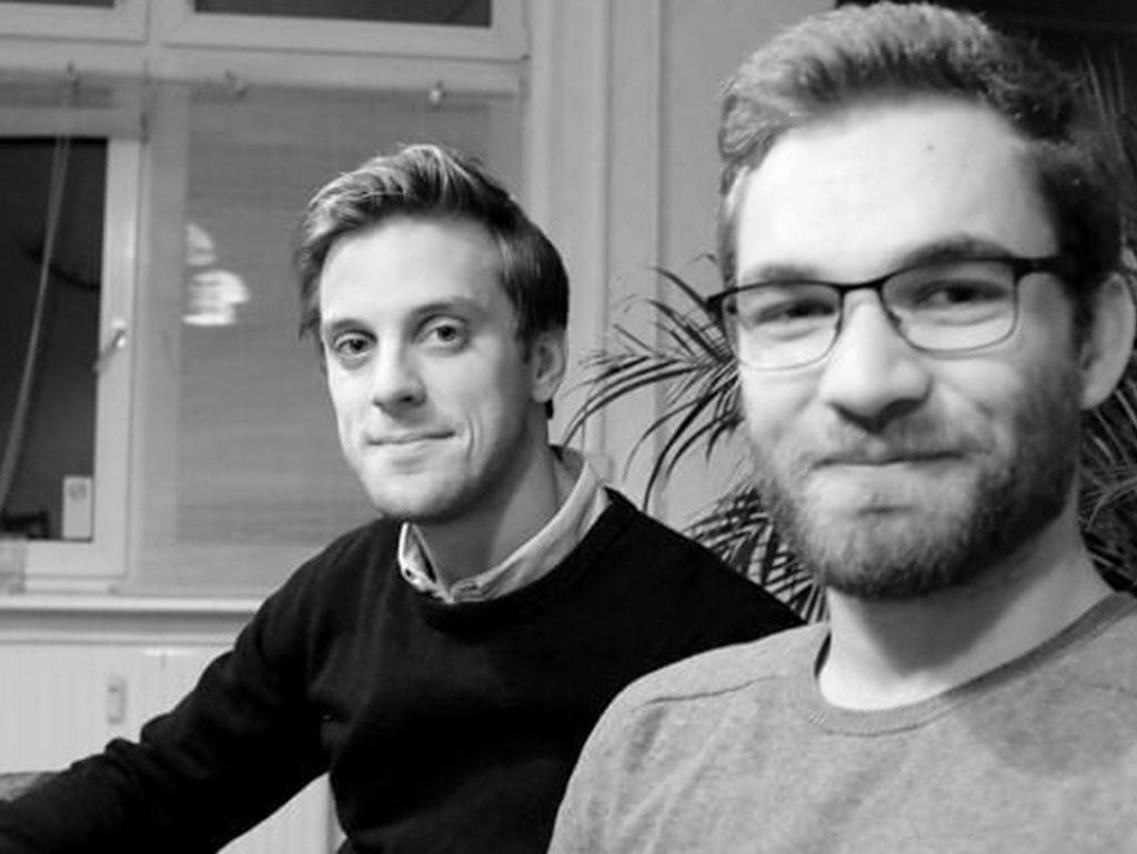 Young entrepreneurs: Gauthier Van Malderen and Matthew Davis, Perlego